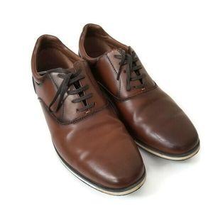 ZARA Men shoes oxford brown sz 43